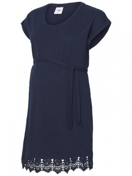 Mamalicious Zwangerschaps Dress/Tuniek Aletta Navy