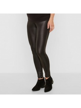 Mamalicious Zwangerschaps legging Tessa leatherlook black