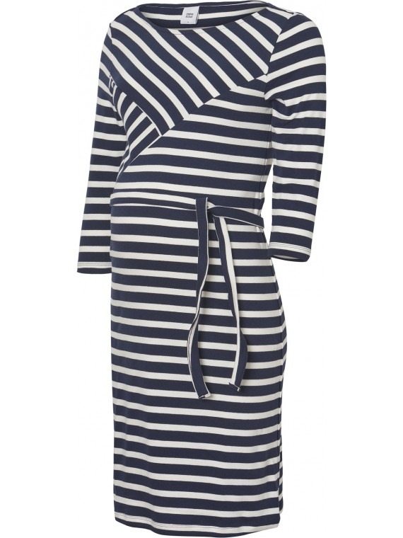 Mamalicious Zwangerschaps Dress Selina Navy-Snow White