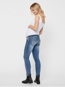 Mamalicious Zwangerschaps Jeans Sonar light blue denim