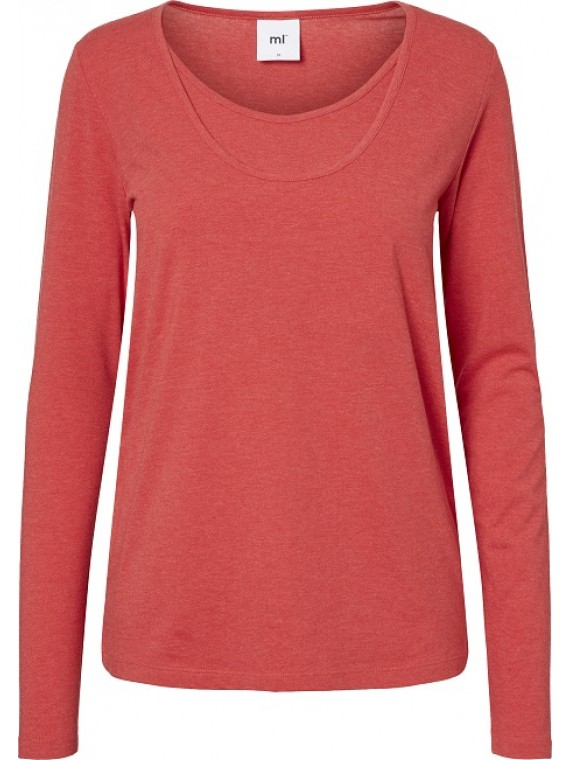Mamalicious Zwangerschaps Nursing Top Jane Red Melange