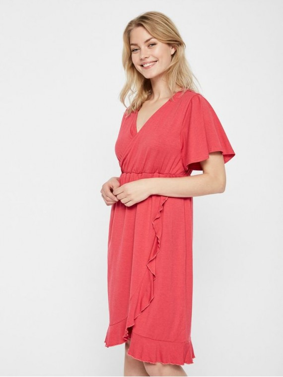 Mamalicious Zwangerschaps Nursing Dress Macha Claret Red