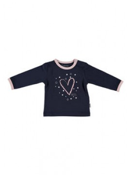 Bess Babyshirtje Girl Heart Blue