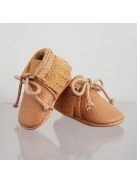 BY.E.Little Shoes Boho Leer Baby Brown Band