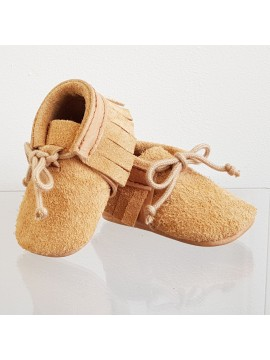 BY.E.Little Shoes Boho Suede Baby Natural Band
