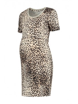 Love2Wait Zwangerschaps Nursing Dress Leopard