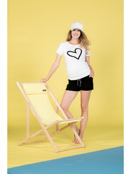 Love2Wait Zwangerschaps Shirt Heart White