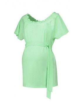 Love2Wait Zwangerschaps Shirt Square Neck Lime