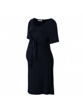 Love2Wait Zwangerschaps Nursing Dress Knot Black