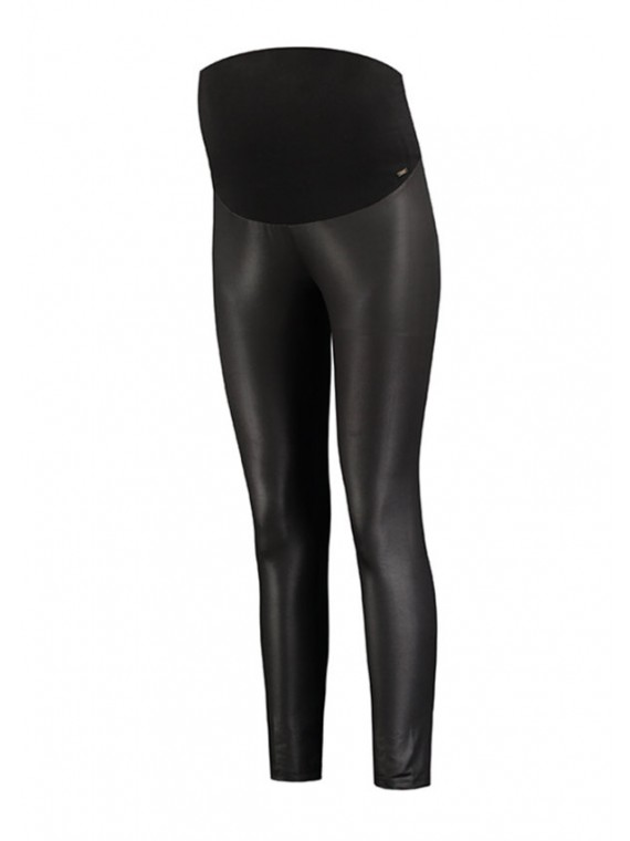 Love2Wait Zwangerschaps Legging 7/8 Shiny Black
