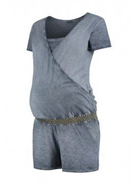 Love2Wait Zwangerschaps Nursing Playsuit Washed