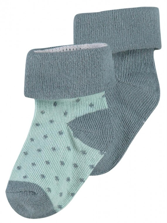 Noppies Socks 2-pack Dot Dark Green