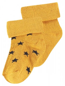 Noppies Socks 2-pack Levi Stars Honey Yellow