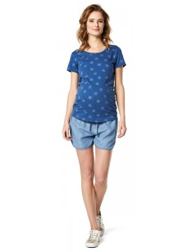 Supermom T-shirt Stars Blue