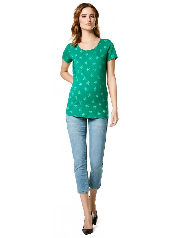 Supermom T-shirt Stars Green