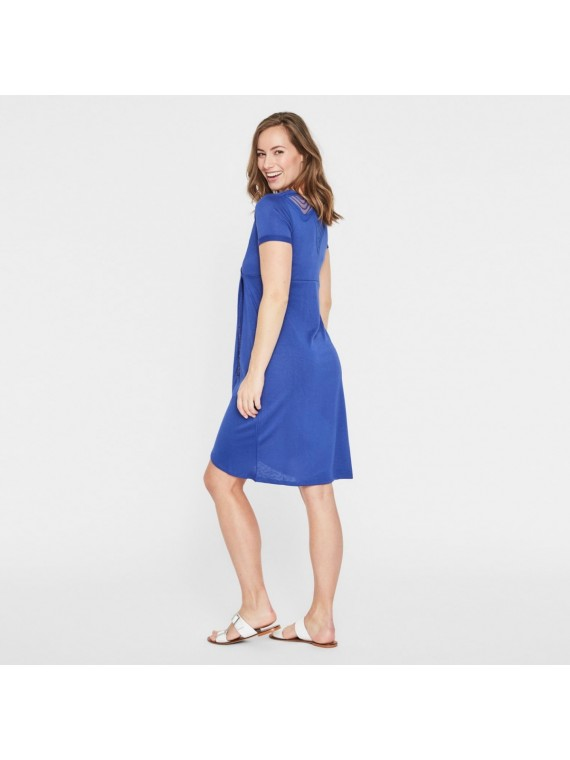 Mamalicious Zwangerschaps Nursing Dress Tess Deep Ultramarine