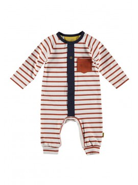 Bess-babypakje Striped White Rusty