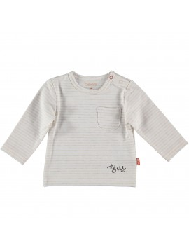 Bess-Baby Shirtje Lines White