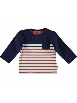 Bess-Baby Shirtje Striped With Pocket