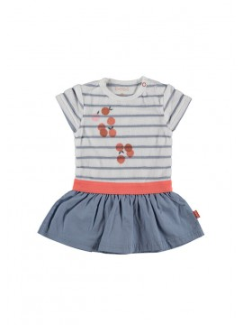 Bess-Baby Jurkje Striped White