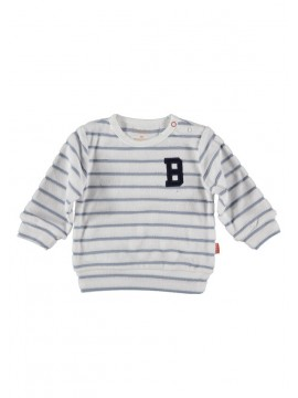 Bess-Baby Sweater Striped White