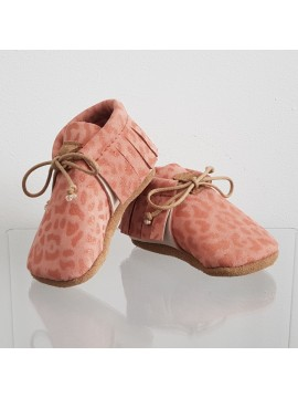 BY.E.Little Shoes Boho Baby Leopard Pink