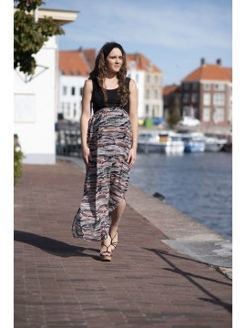 Love2Wait Zwangerschap Maxi Dress Voile Dessin