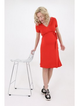 Love2Wait Zwangerschap Nursing Dress Coral
