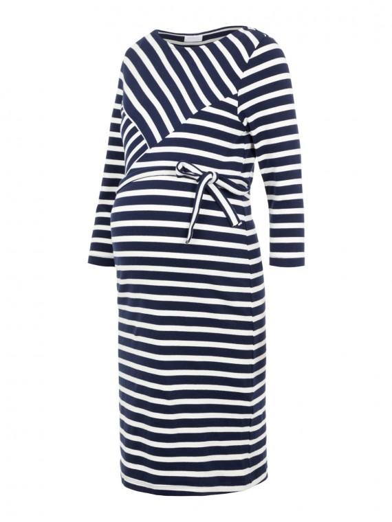 Mamalicious Zwangerschaps Dress Selina Stripe