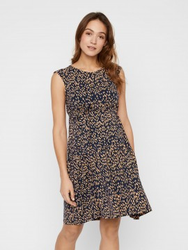 Mamalicious Zwangerschaps Nursing Dress Irena Blue Rose Gold