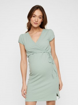 Mamalicious Zwangerschaps Nursing Dress Lasia Green