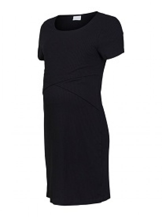 Mamalicious Zwangerschaps Nursing Dress Isabella Black