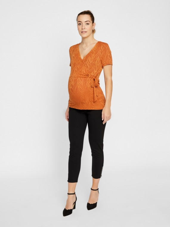 Mamalicious Zwangerschaps Nursing Top Catarina Leathet Brown