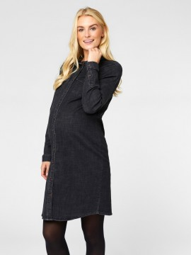 Mamalicious Zwangerschaps Dress Denver Denim Grey