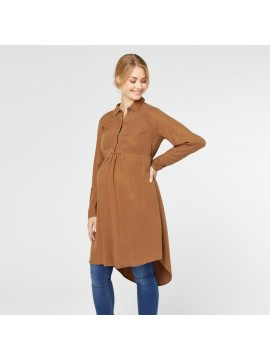 Mamalicious Zwangerschaps Dress/Blouse Wigga Bison Brown