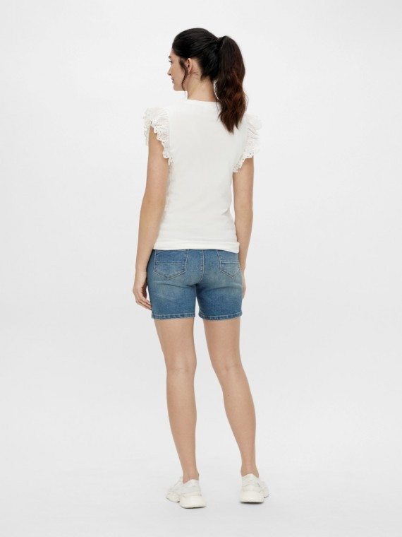 Mamalicious Zwangersschaps short Fontana Slim Denim