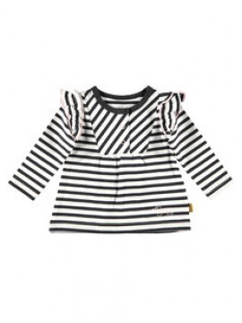 Bess Shirtje Stripes Ruffles White