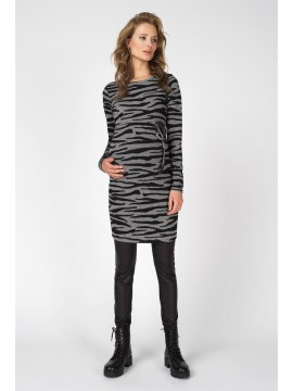 Supermom Zwagerschapsdress Zebra Grey
