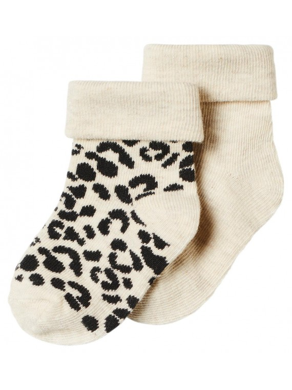 Noppies Socks 2-pack Blanquillo Oatmeal