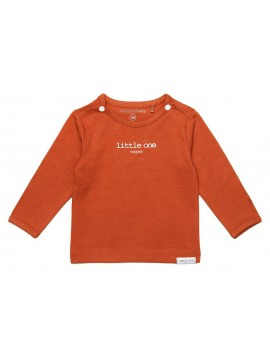 Noppies longsleeve Hester Tekst Spicy Ginger