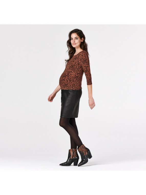 Supermom Top Leopard Brown