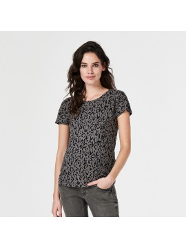 Supermom T-shirt Leopard Tornado Grey
