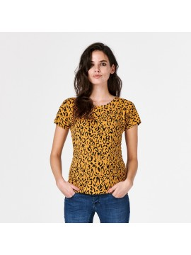 Supermom T-shirt Leopard Honey Mustard