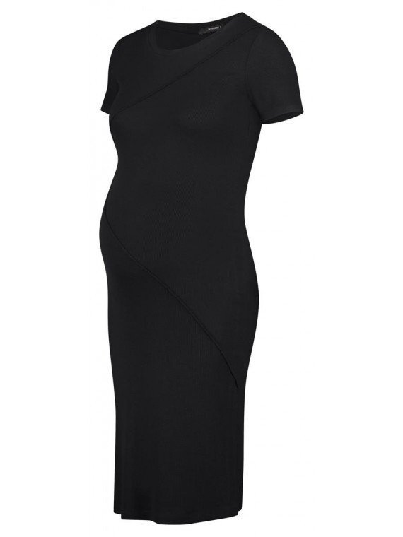 Supermom Zwagerschapsdress Rib Black
