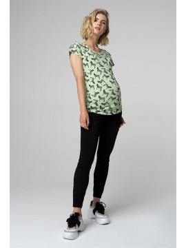 Supermom Zwangerschaps T-Shirt Zebra Smoke Green
