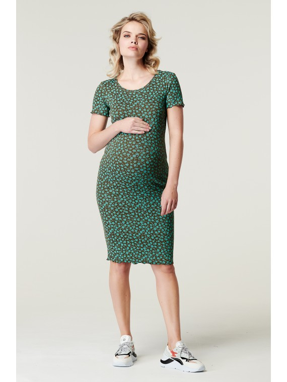 Supermom Dress Flower Agate Green