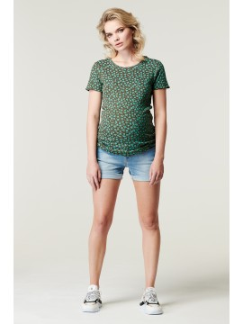 Supermom T-Shirt Flower Agate Green
