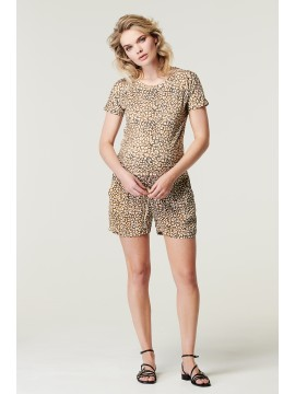 Supermom Zwangerschaps Top Leopard Dull Gold