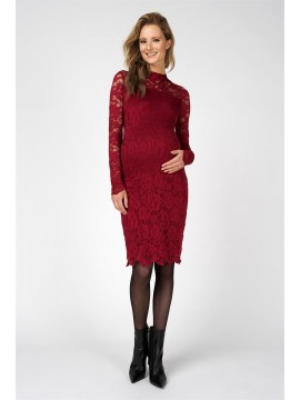 Supermom Zwagerschapsdress Lace Rumba Red