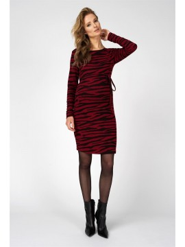Supermom Zwagerschapsdress Zebra Rumba Red